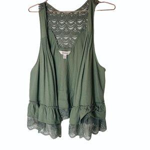 EUC Decree Green Lace Vest XL